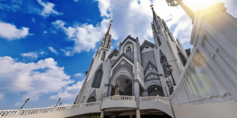St. Mary of Perpetual Help Cathedral Church in Samarinda, capital of East Kalimantan province. Photo: UCAN/courtesy of Father Moses Komela Avan