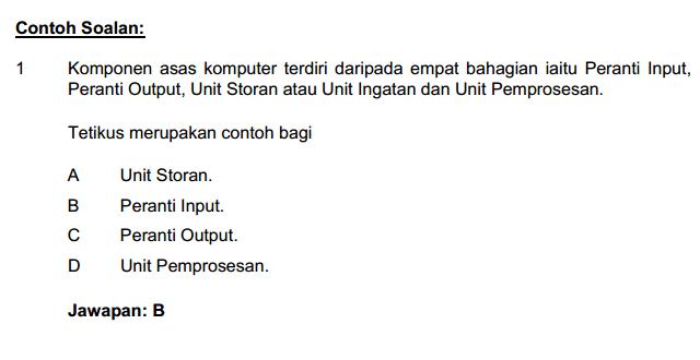Contoh Soalan Pengetahuan Am Mengenai Malaysia Soalan Bp