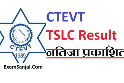 TSLC result Published by CTEVT ( CMA, ANM TSLC result by CTEVT)