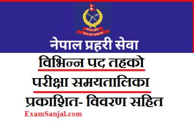 Nepal Police Exam Routine by Lok Sewa ( Exam Schedule Routine Nepal Police Exam)