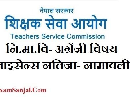 Shikshak License Result ( Teaching License Result Ni Ma Bi)