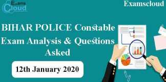 Bihar Police Constable Exam Analysis & Questions Asked