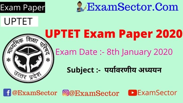 UPTET 8 January 2020 Paper 1st Answer Key