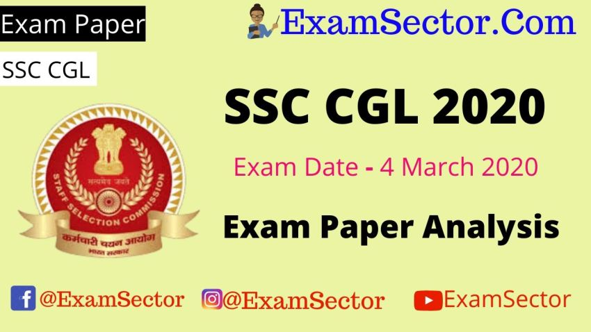 SSC CGL 4 March 2020 Exam Paper Analysis ,