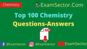 Top 100 Chemistry Questions-Answers PDF in Hindi