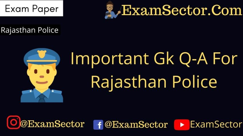 Rajasthan Police Gk Questions Answers in Hindi