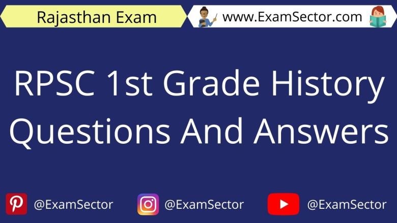 RPSC 1st Grade History Questions And Answers