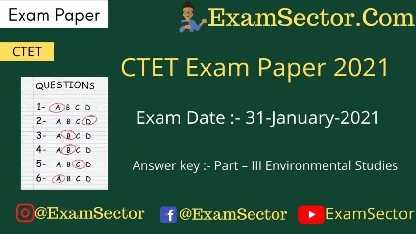 CTET 31 Jan 2021 Paper I (