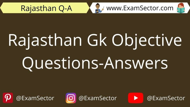 Rajasthan Gk Objective Questions-Answers in Hindi