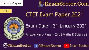 CTET 31 Jan 2021 Paper 2nd answer key