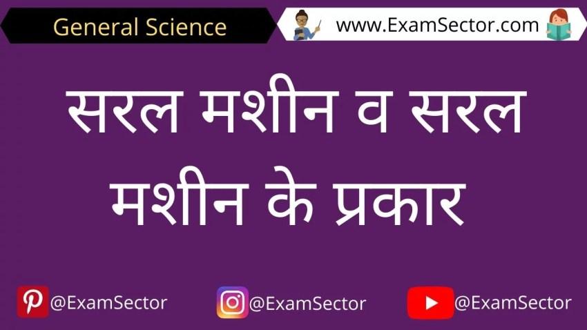 Saral Machine kya hai Notes in Hindi