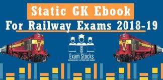 Important Static GK PDF For Railway Exams 2018-19