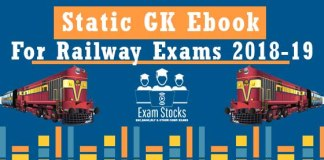 Important Static GK PDF For Railway Exams 2018-19