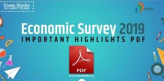 Economic Survey 2019 Important Highlights PDF