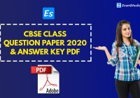CBSE Class 10th Question Paper 2020 PDF & Answer Key