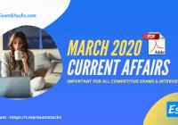 300+ Best Current Affairs March 2020 PDF [Bilingual]