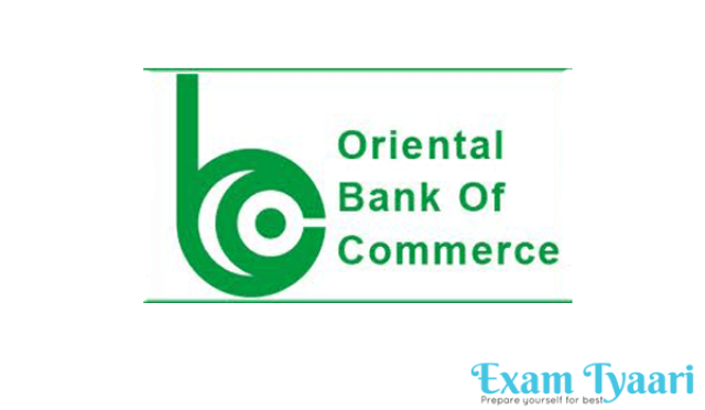 Oriental Bank Of Commerce Recruitment Notification-2016 (117 SO Posts)