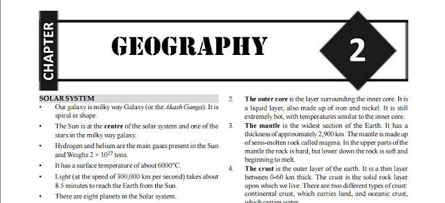 Free Important Geography Notes & Study Material for SSC CGL  [PDF]