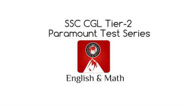 Free-Book: Paramount SSC CGL Tier-2 Test Series for Math & English [PDF]
