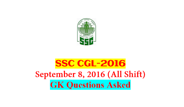 SSC CGL Tier-1 2016 : Questions Asked On 8 September - ALL Shift [PDF] - Exam Tyaari