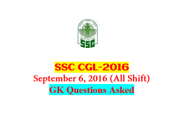 SSC CGL Tier-1 2016 : Questions Asked On 6 September - ALL Shift [PDF] - Exam Tyaari
