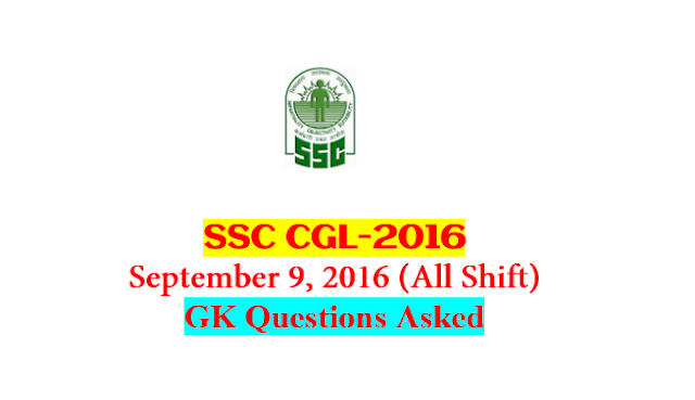 SSC CGL Tier-1 2016 : Questions Asked On 9 September - ALL Shift [PDF] - exam tyaari
