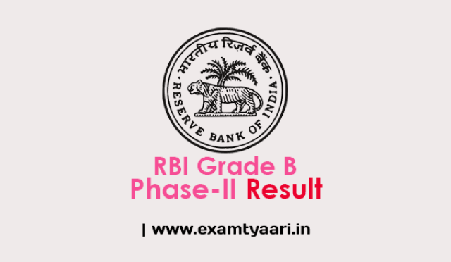 RBI Grade B Phase-II Result Out - PDF List - Exam Tyaari