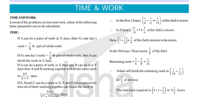 Free-Book: Time & Work Study Notes PDF with Tricks and Shortcuts and Solved Examples for SSC [PDF] -Exam Tyaari