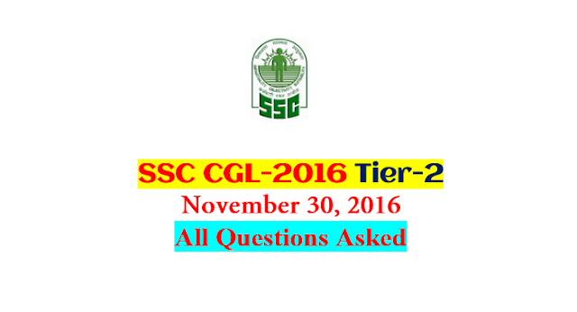 SSC CGL-2016 Tier-2 All Questions Asked on 30th November [PDF Download] - Exam Tyaari