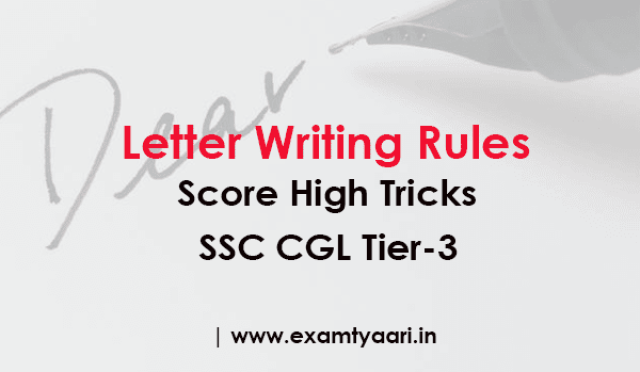 Rules and Tricks to Score High in Letter Writing for CGL(Tier 3) - [PDF] - exam tyaari