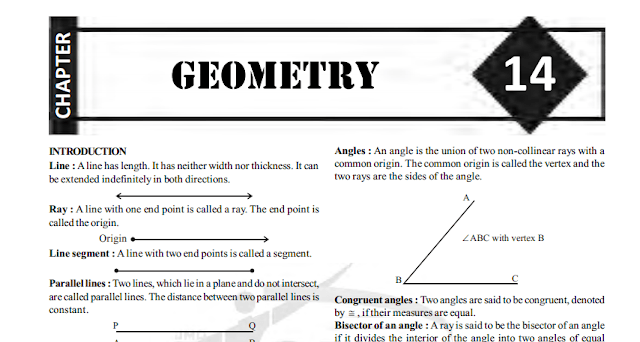 Free-Book: Math Geometry Shortcuts Formulas Tricks Study Material SSC CGL [PDF]