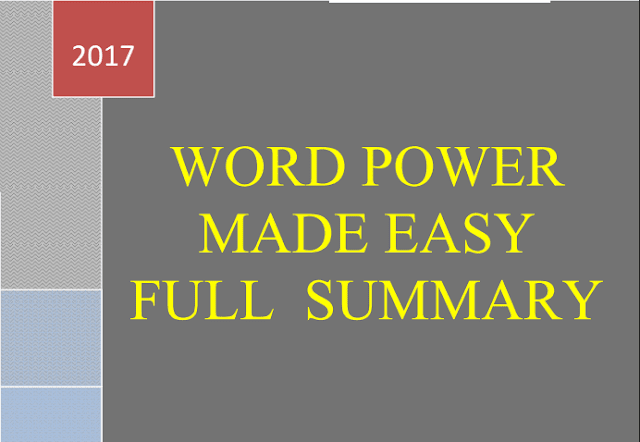 Free-Book: Word Power Made Easy by Norman [Download PDF] - Exam Tyaari
