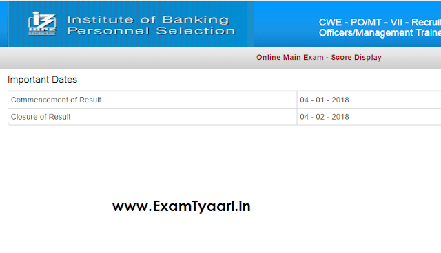 IBPS PO 2017 Mains SCORE Card Out - Cut Off Included - Download Now - Exam Tyaari