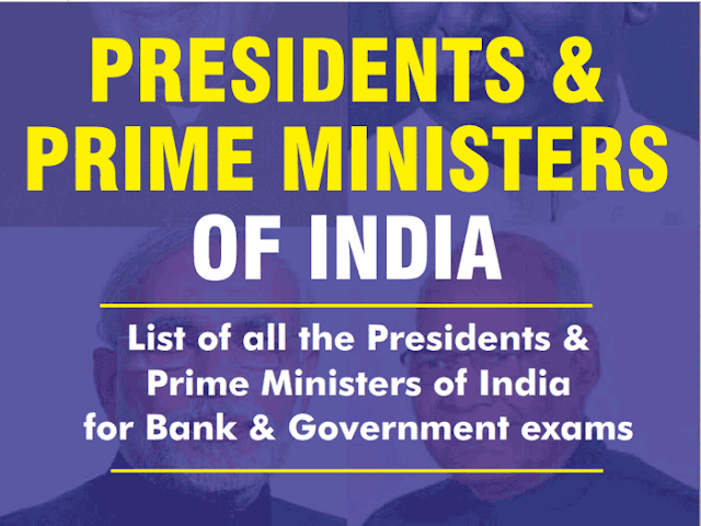 List of All PMs and Presidents of India with Expected Questions [PDF] - Exam Tyaari