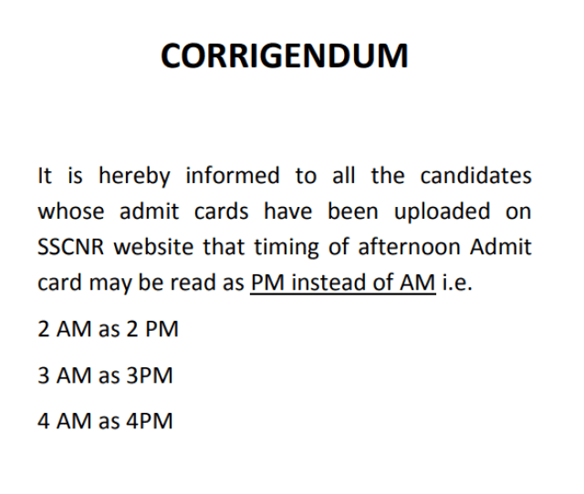 SSC MTS 2016 Corrigendum Notice - PDF - Exam Tyaari