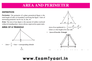 Area and Perimeter PDF Download - Exam Tyaari
