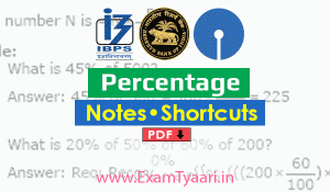 Download Shortcut Tricks For Percentage PDF
