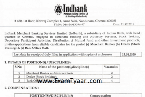 Indbank Recruitment 2019