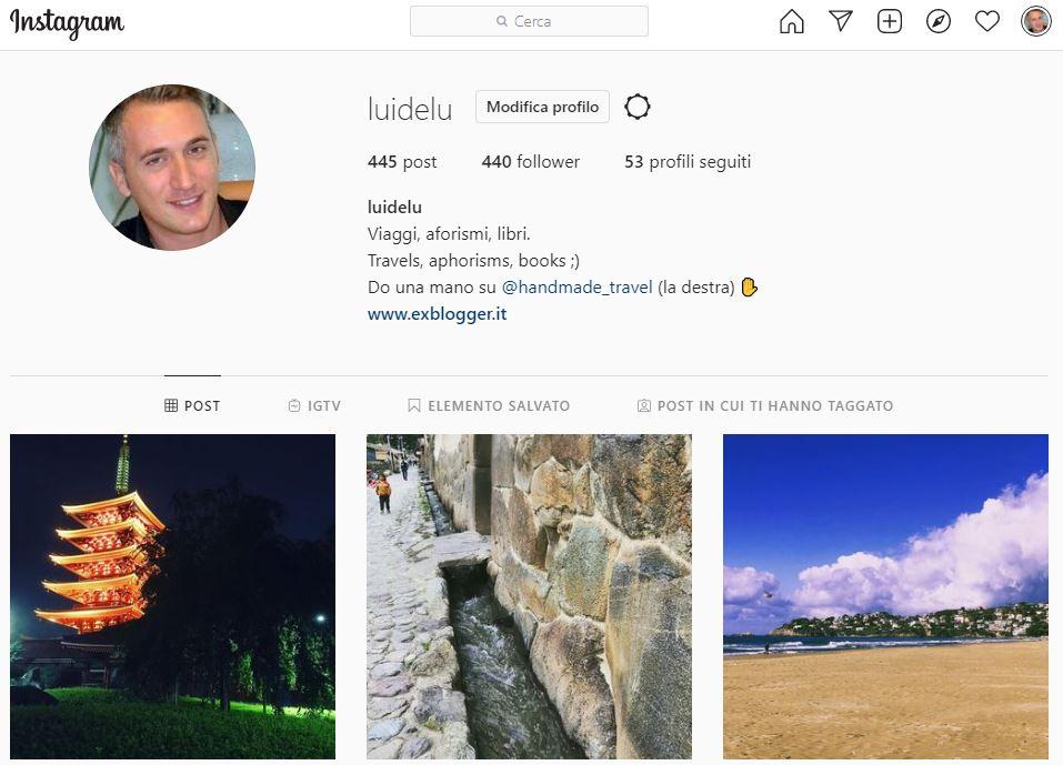 Il mio profilo Instagram