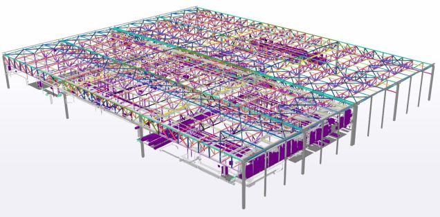 Excadia bureau d'études structure métallique scan 3D capture charpente + process
