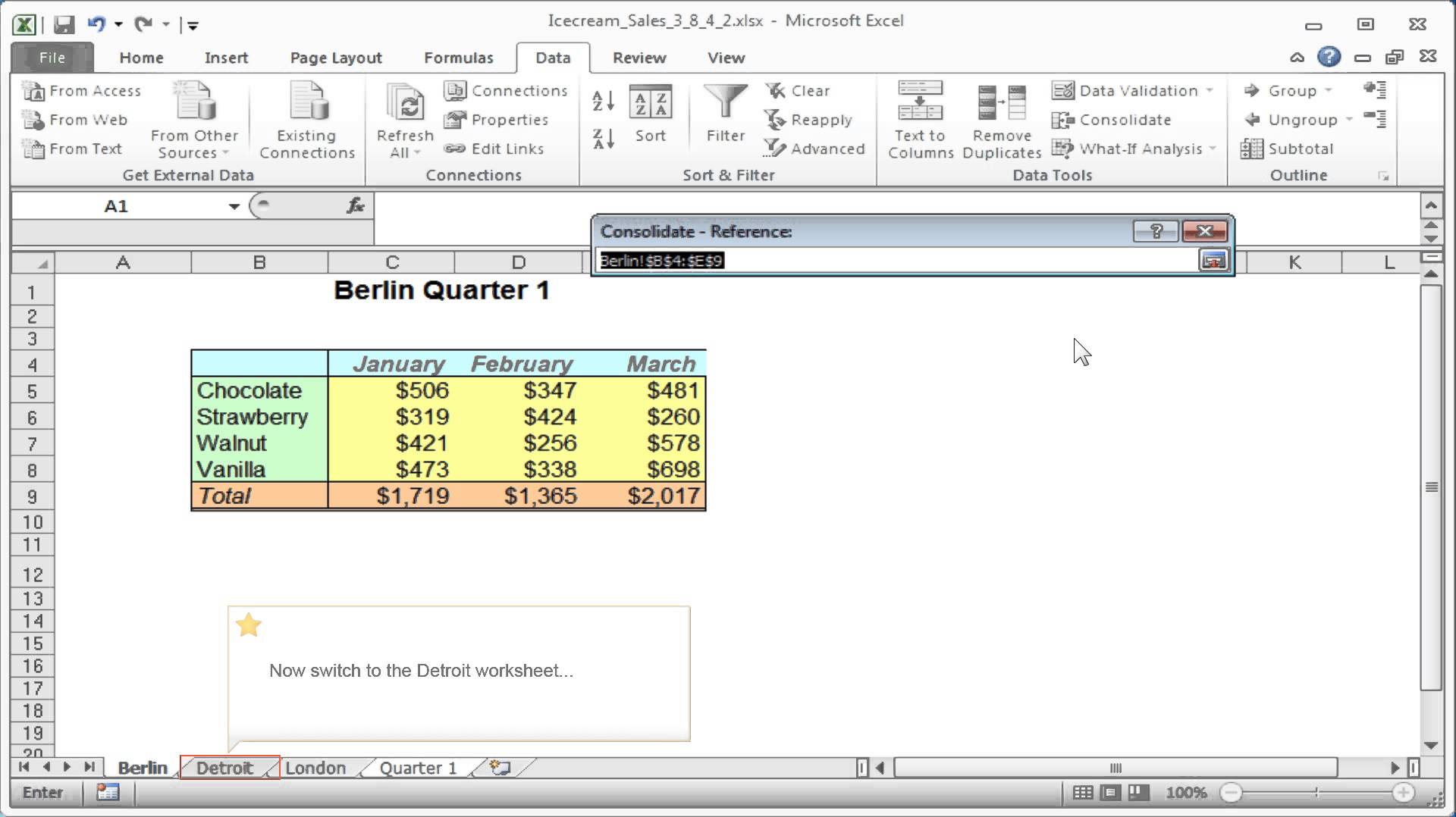 Excel Consolidate How To Consolidate Data