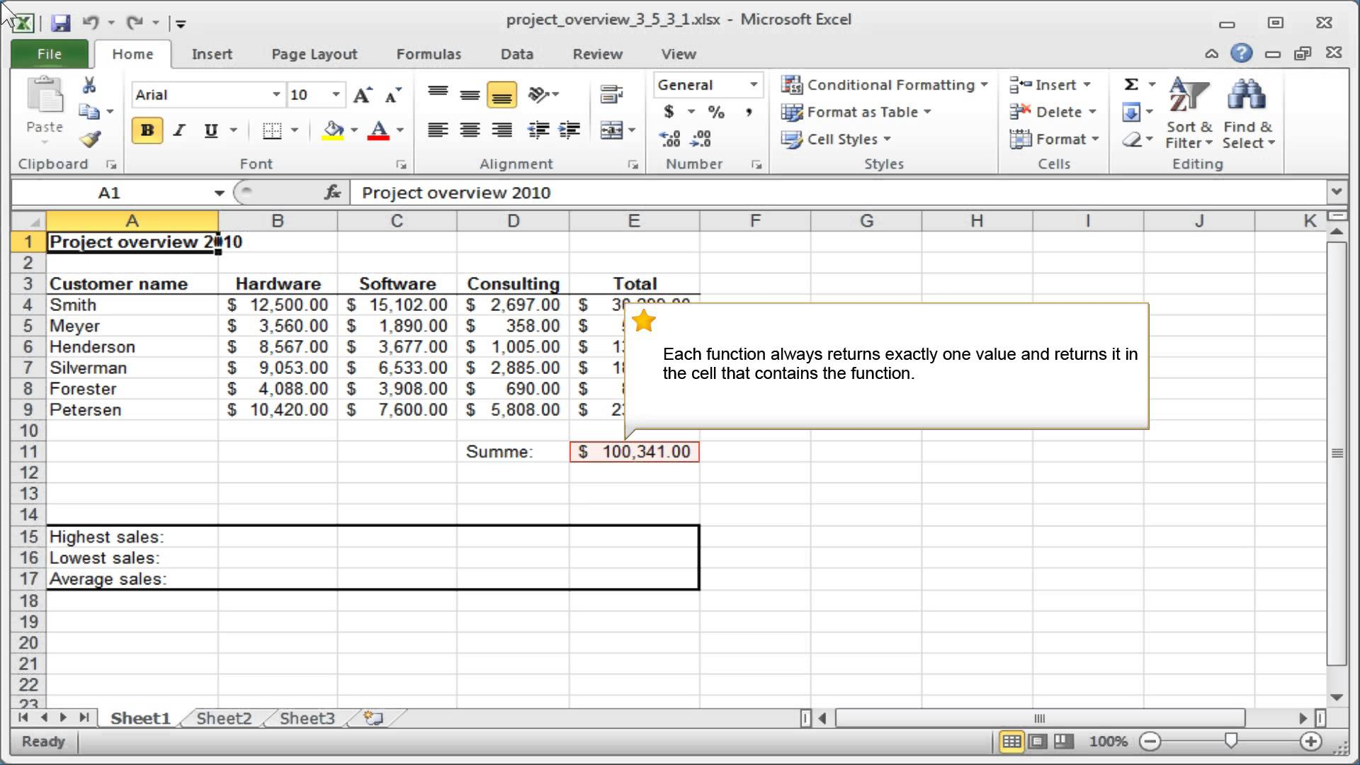Excel Syntax Of Functions
