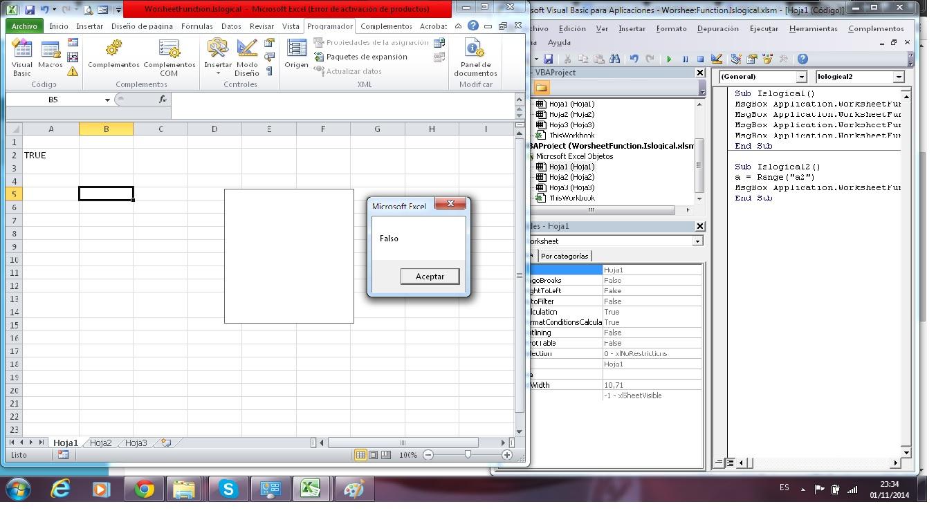 Funcion Worksheetfunction Logical Excel Avanzado