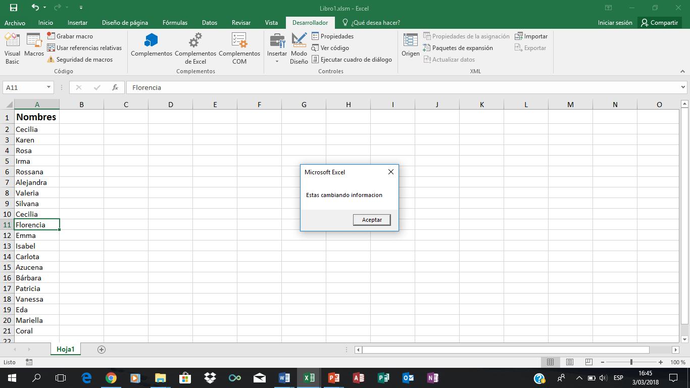 Que Es Un Evento En Vba Excel Avanzado