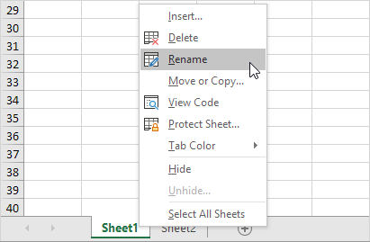 Worksheets In Excel