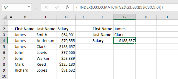 Two-column Lookup