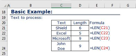 Basic Example LEN function