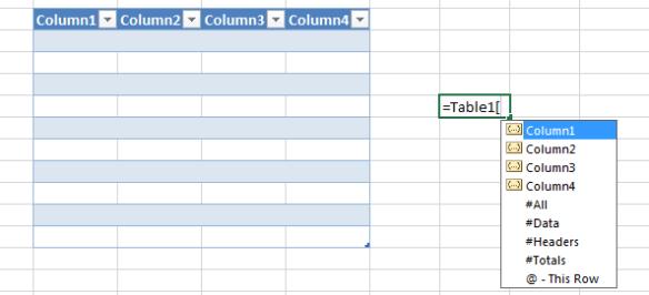 Table display triggers - bracket