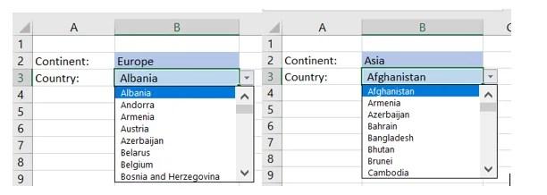 dynamisches Dropdown in Excel erstellen