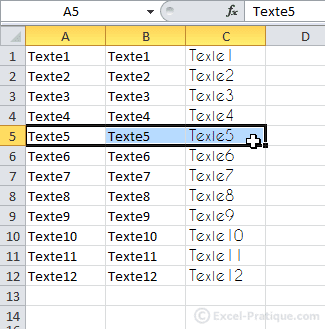 selection cellules - excel bases2